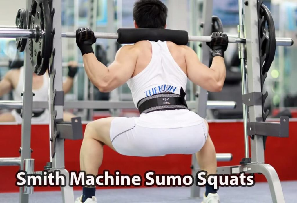 a man is doing sumo squats exercise
