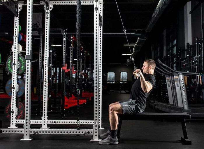 Lat Pulldown with Rogue Monster Slinger Header