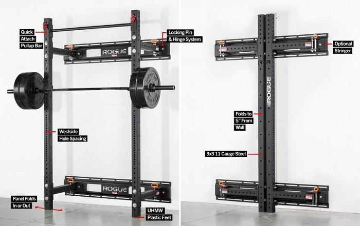 Rogue RML 3W Fold Back Wall Mount Rack