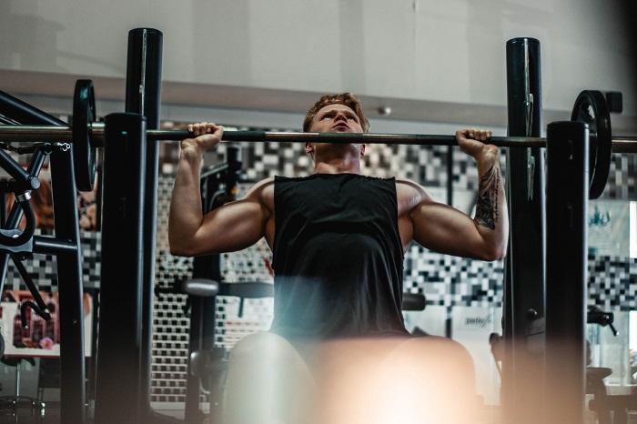 Shoulder Press On Squat Stand Rack